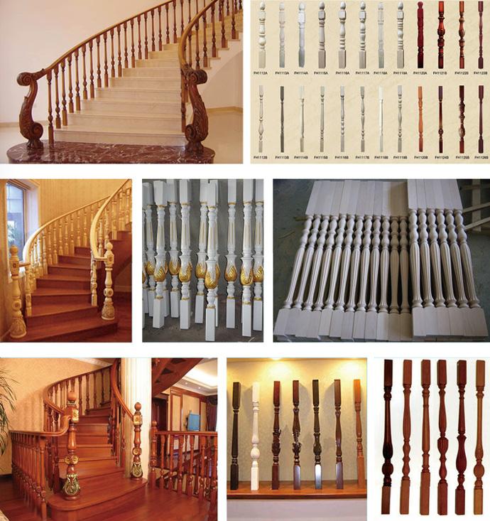 数控木工车床作为木质楼梯扶手的主要加工设备,具有加工效率高,造型
